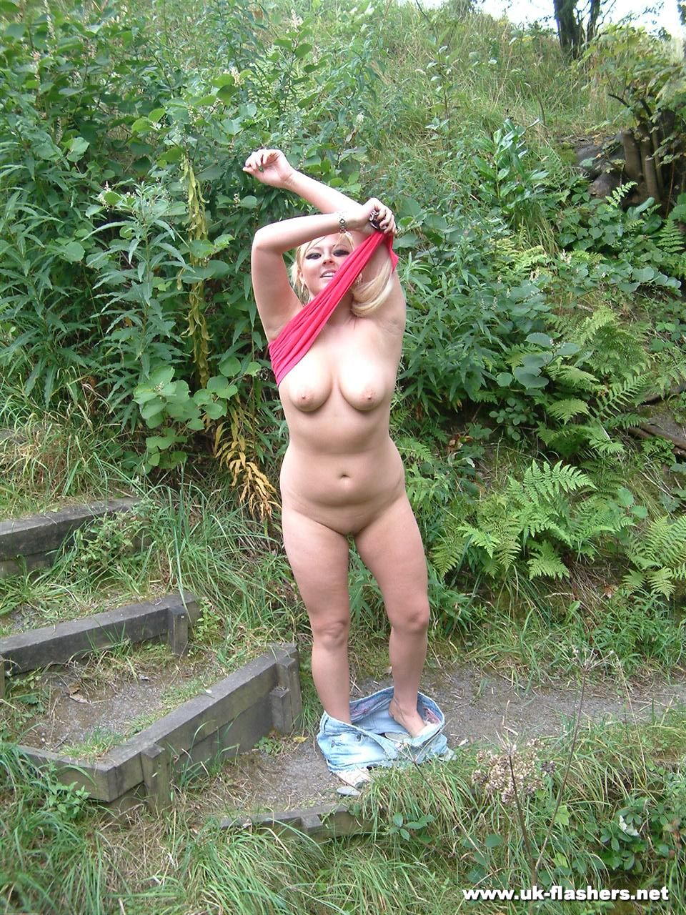 Stripped naked in public video